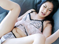 Japanese cutie Ishiguro finds her pussy touched and toyed by a horny guy
